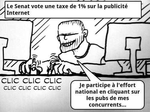 Taxe sur les clics: picture taxe Google by danielbroche