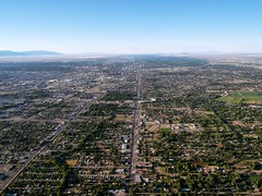 Albuquerque From Above (saxonfenken) Tags: city usa newmexico river view albuquerque fromabove roads banks riogrande 7022 urbanroads pregamewinner 7022city