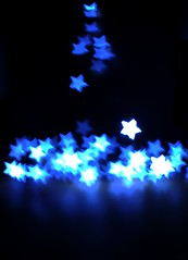Rising Stars 17/52 (sleepyhead's) Tags: blue light project stars rising bokeh shaped 17 weeks bluestars 52 fiftytwo 1752 52weeks risingstar project52 52weeksproject 17of52 shapedbokeh projectfiftytwo fiftytwoweeksproject