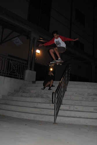 front 180 over handrail