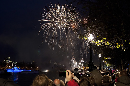 fireworks display in london. Lord Mayor#39;s Show Fireworks Display, Victoria Embankment, London