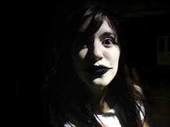 """No tengo por qu recordarte (stopthismelody) Tags: light shadow bw white black art girl face day arte expression mimo dia pale surprised pentacon mime praktica 103 dcz"