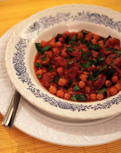 Chorizo, Iberico Pork Belly and Chickpea Stew