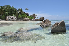 Anse Source D'Argent, La Digue, Seychelles Islands (pentlandpirate) Tags: blue sea coral relax island islands sand paradise turquoise indianocean palm explore exotic granite tropical seychelles equator ladigue seychellen ansesourcedargent seychelle princewilliamkatecatherinecambridgeseychelleshoneymoon
