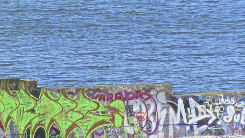 Graffiti - The Old Public Baths Beside Blackrock Station