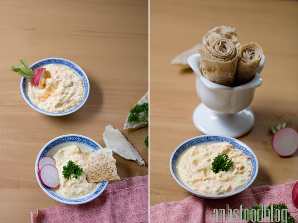 Turkish carrot yoghurt dip.