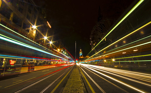 Princes Street Light Trails - Explored