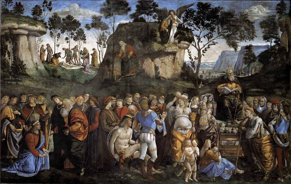 Sistine Chapel Southern Wall - Moses' last acts and death