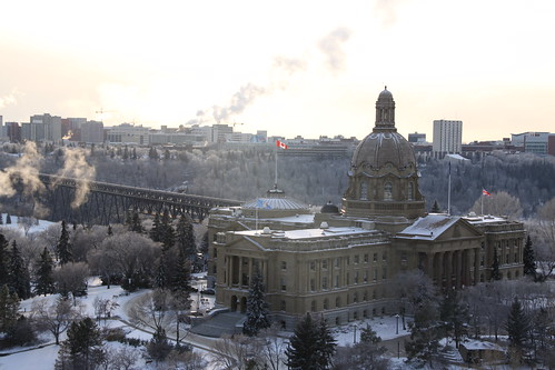 Winter In Edmonton Legislative Assembly And High Level