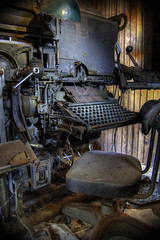 OLD ABANDONDED PRINTING PRESS urbex hdr (tim heffernan) Tags: old urban abandoned antique neglected machine rusty machinery weathered nik exploration hdr highdynamicrange printingpress hdri printshop urbex oldchair photomatix ps5 antiqueprintingpress timheffernan