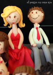 Modelado pareja roja 3 en azúcar