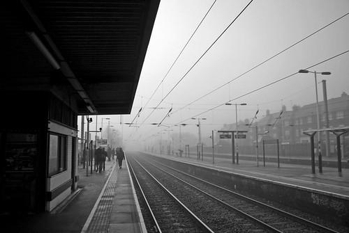 Fog, Mill Hill Broadway Station, London, NW7, 19th November 2010