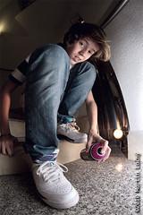 Spray that sneaker (theoriginalmoody) Tags: boy urban fashion canon studio photo kid exposure child interior flash style spray sneakers nike fisheye jordan 7d af hip hop cloth 8mm multi syle samyang