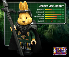 Jagged Jackrabbit (Morgan190) Tags: original toy toys lego battle 80s series minifig collectible custom 1980 beasts hasbro m19 minifigure battlebeasts iwako morgan19 bricktw