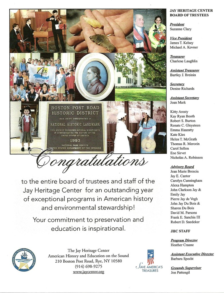 2010 was a successful year for Jay Heritage Center- thank you to our members!!!