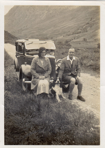 On the road. 1935. Scotland.