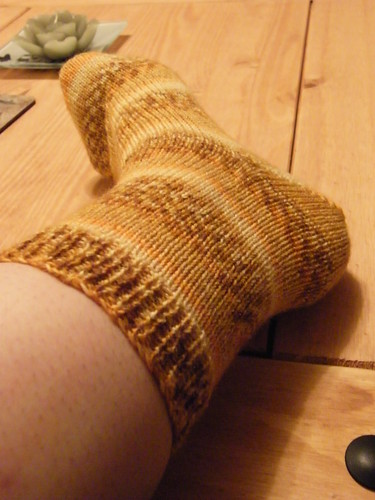 Self-Striping Sock - Honey