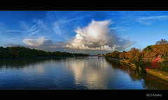 Autumn on the Thames (Reg Ramai ( Back, catching up!)) Tags: sky london thames clouds river battersea mywinners colorphotoaward panoramafotogrfico