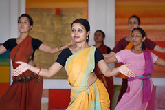Rajashri (Rosy) and her students (yipe) Tags: bali indonesia dance indian orissa odissi
