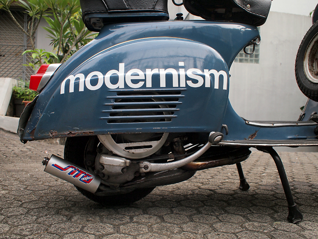 Sito -ish exhaust installed - Modern Vespa