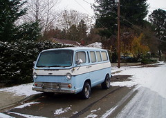 1960s Chevy Van (Public Domain) (KurtClark) Tags: blue chevrolet public washington chevy wa 1960s van domain bothell publicdomain chev