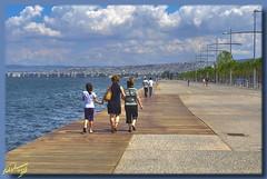 Wandering at Thessaloniki's waterfront ... HDR (Emil9497 Photography & Art) Tags: seaside hellas greece thessaloniki stroll wander d90 supershot anawesomeshot nikond90