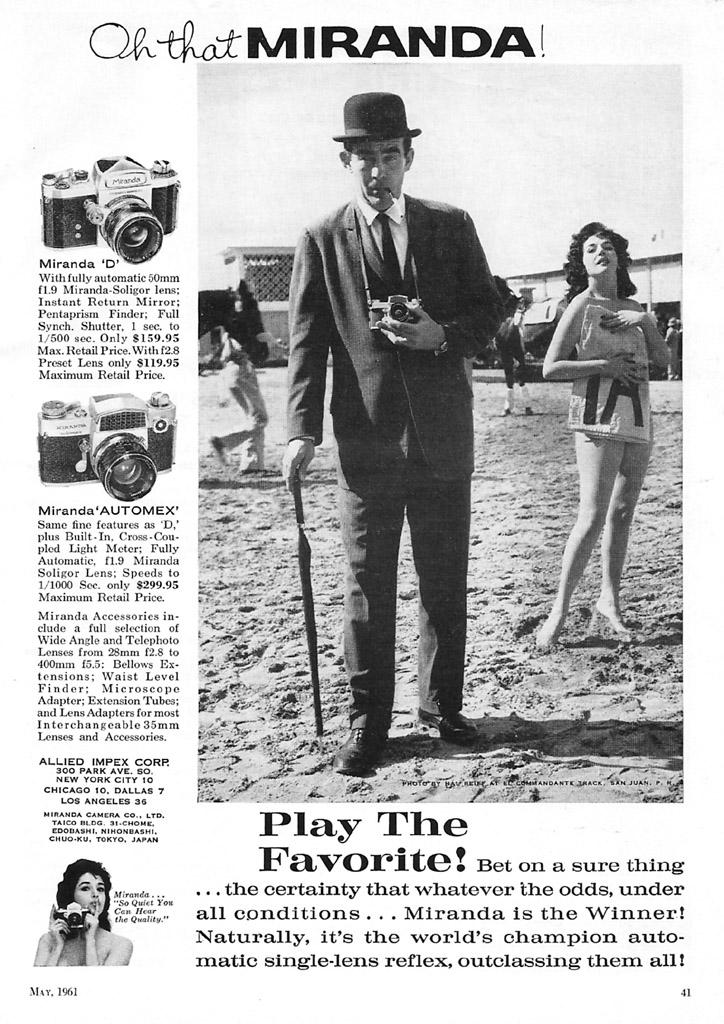 Miranda Camera Ad - 1961