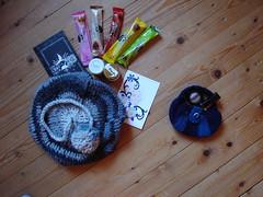 Wichtel (Fluxx) Tags: tea crochet craft swap beanie fatbag slouchyhat