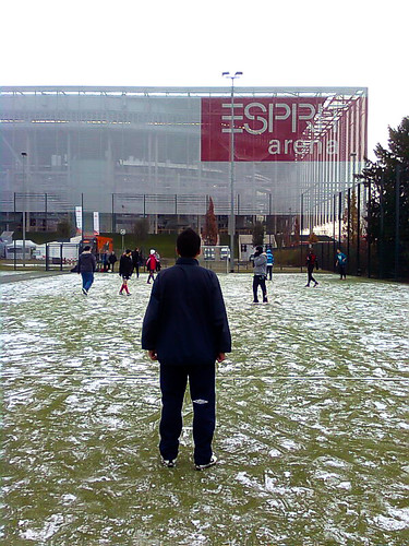 Snow & Football in Düsseldorf