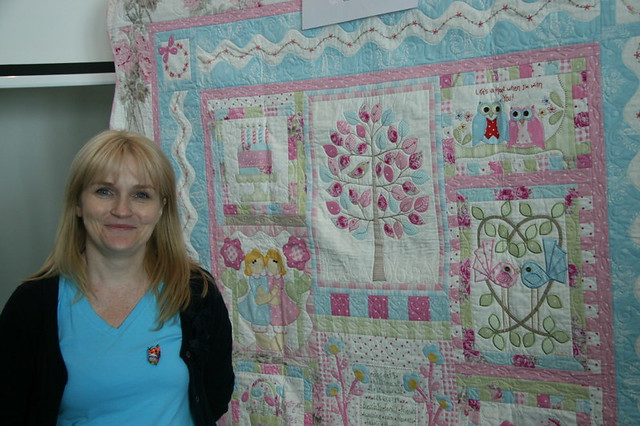 Kellie at Quilt market