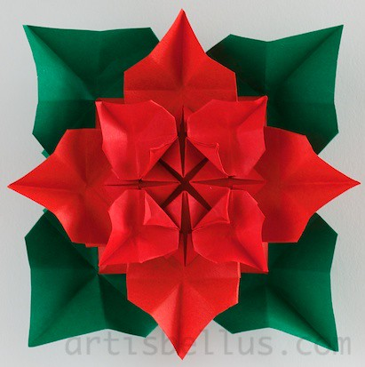 The worlds best photos by smarcelab flickr hive mind poinsettia smarcelab tags christmas flower origami poinsettia papiroflexia marcelabrina artisbellus mightylinksfo
