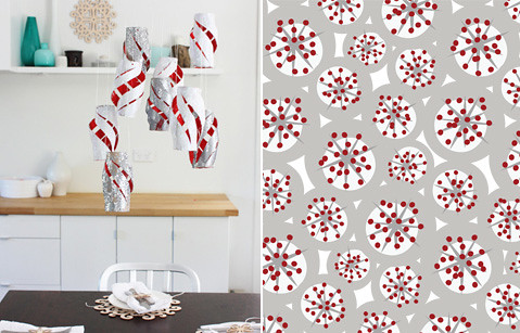 Red and White Folk Christmas Inspiration