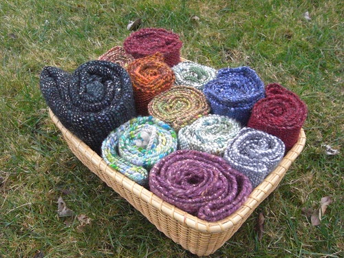 Basket of Scarves