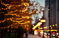 Chicago(keh) for the Holidays. {Explored} (eRachel11) Tags: city winter chicago lights blurry nikon colorful december bokeh outoffocus christmaslights citylights d7000 nikond7000 ilovechaitea