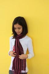 Portrait (Robi Jaffrey) Tags: portrait girl yellow shy