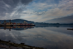 northern town (e-box 65) Tags: namsos norway scandinavia fjord sea sky landscape norge north landschaft scenery norwegen nature dark trøndelag fv17 nikon d7200 105 water clouds reflection town houses