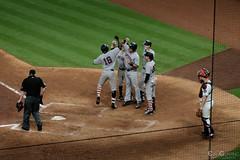 Gregorius Clelbrates with teammates (Evan Gearing (Evan's Expo)) Tags: baseball houston houstonastros majorleaguebaseball minutemaidpark mlb newyorkyankees stadium texas tx unitedstates us