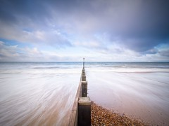 Outreach (Andrew H-W) Tags: littlestopper groyne sunrise filters tripod dorset waves hard landscape summer andrewhaywardwills nd beach water lee longexposure christchurch clouds 2stop seascape lowtide 2017 olympusomd5 uk sea graduated sand southborne