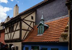 Tiny houses, tiny roofs (Tiigra) Tags: prague czechia cz 2017 architecture city roof spire tower window