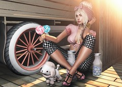 📷   Sweet vintage. (ℒidsα) Tags: exile thesecretstore kccouture malo mishmish vv sweet vintage sweetvintage poodle pet puppy dog candy candyjar lollipop retro pink checkered itdoll doll girl cute woman lotd fashion game gamer gamergirl gamedoll avatar sl secondlife slavatar slfashion free freebie mesh pixel virtual virtualworld beauty beautiful photo photograph snapshot clothing clothes picture blog blogger slblogger secondlifeblogger moda event