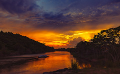Storm Clouds And The Sunset (wowography.com) Tags: 1635mm 2017 bridge cloudy june landscape nikond610 summer sunkenmeadowstatepark timelapse tomreese rain sunset weather wowographycom hss fourthofjulyweekend sliderssunday 5578993 reflections stormclouds