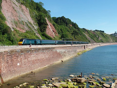 43041 & 43187 Sprey Point, Teignmouth (Marky7890) Tags: gwr 43041 43187 class43 hst 1a79 teignmouth railway devon rivieraline train