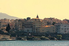 View of Corfu Town from the Sea (lhg_11, 2million views. Thank you!) Tags: travel travelphotography europe greece hellas corfu city buildings landscape sea ioniansea roofs tile sky vacation vikingsea cruise island cityscape view