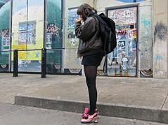 BostonPinkShoes (fotosqrrl) Tags: urban boston massachusetts streetphotography newburystreet smoking backbay tapshoes pinkshoes