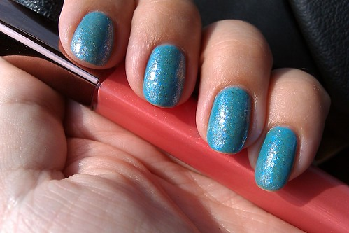 Essie Shelter Island + Inglot 204 + Chanel Illusion d'or
