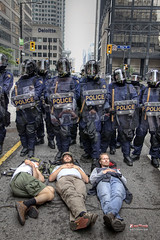G20 Napping Protesters (Ride My Pony Photograph