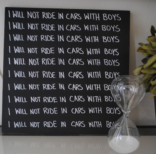 i will not ride in cars with boys
