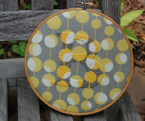 french knot B in hoop