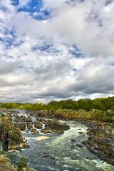 Great Falls, VA (Atomic Eye) Tags: water fall waterfall greatfalls potomac river national park steep jagged rocks gorge nationscapital virginia va fairfax canon eos 1d