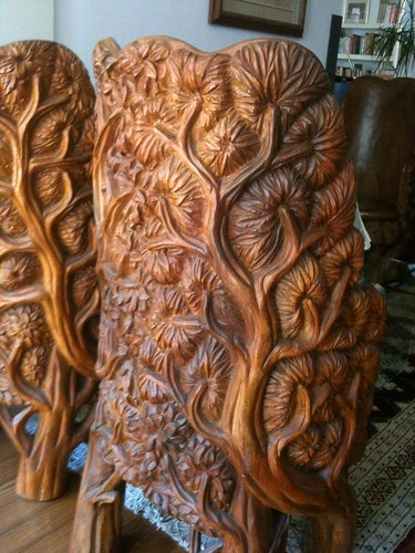 Carved chairs